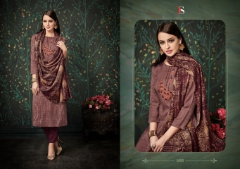 DEEPSY FUSION 2 PURE PASHMINA PRINTS SELF EMBROIDERED SUITS WINTER COLLECTION WHOLESALE DEALER (9)