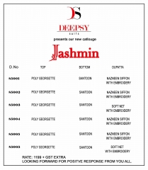 DEEPSY JASHMIN CATALOG GEORGETTE EMBROIDERED PAKISTANI STYLE WHOLESALE SUPPLIER BEST RATE BY GOSIYA EXPORTS SURAT (7)