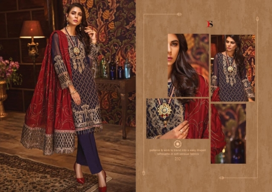 DEEPSY SUIT GULBANO VOL 16 GEORGETTE 231-236 SERIES PAKISTANI SUIT CLOTHING STORE WHOLESALE DEALER BEST RATE BY GOSIYA  (16)