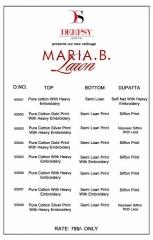 DEEPSY SUIT PRESENTS MARIYA B LAWN COTTON BEST WHOLESALE PRICE AT GOSIYA EXPORTS (18)