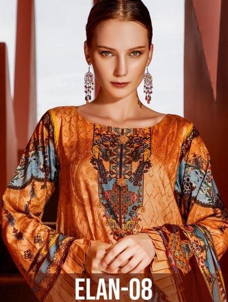 DEEPSY SUITS PRESENTS ELAN VOL 8 SILK PAKISTANI STYLE DRESS MATERIALS CATALOG WHOLESALE DELAER BEST RATE BY GOSIYA EX (1)