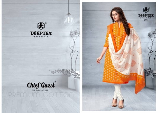 DEEPTEX PRESENTS CHIEF GUEST VOL 15 HEAVY MALAI COTTON FABRIC DRESS MATERIAL  WHOLESALE DEALER BEST RATE BY GOSIYA