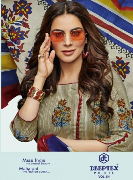 DEEPTEX PRESENTS MISS INDIA VOL 54 COTTON FABRIC PRINT SUIT WHOLESALE DEALER BEST RATE BY GOSIYA EXPORTS SURAT (1)