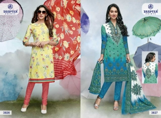DEEPTEX PRINTS VOL 38 COTTON PRINTED SALWAR KAMEEZ CATALOG WHOLESALE BEST RATE BY GOSIYA EXPORTS S SURAT (8)
