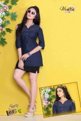 Denim kurti series SHORTY-1 Denim Wash stylist petern WHOLESALE BEST RATE BY GOSIYA EXPORTS SURAT (10)