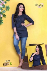 Denim kurti series SHORTY-1 Denim Wash stylist petern WHOLESALE BEST RATE BY GOSIYA EXPORTS SURAT (11)