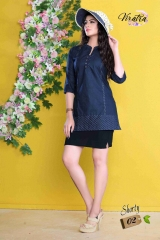 Denim kurti series SHORTY-1 Denim Wash stylist petern WHOLESALE BEST RATE BY GOSIYA EXPORTS SURAT (2)