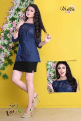 Denim kurti series SHORTY-1 Denim Wash stylist petern WHOLESALE BEST RATE BY GOSIYA EXPORTS SURAT (3)