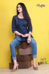Denim kurti series SHORTY-1 Denim Wash stylist petern WHOLESALE BEST RATE BY GOSIYA EXPORTS SURAT (6)