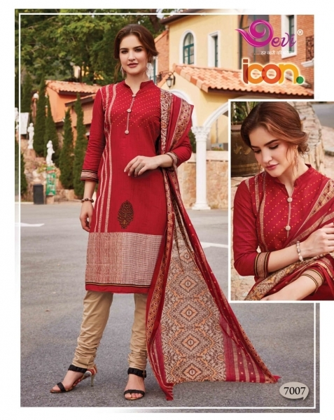 DEVI PRESENTS ICON VOL 7 COTTON FABRIC DRESS MATERIAL AT WHOLESALE DEALER BEST RATE BY GOSIYA EXPORTS SURAT (5)