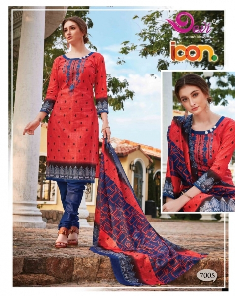 DEVI PRESENTS ICON VOL 7 COTTON FABRIC DRESS MATERIAL AT WHOLESALE DEALER BEST RATE BY GOSIYA EXPORTS SURAT (6)