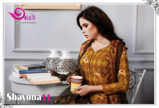 DEVI PRESENTS SHAYONA VOL 11 COTTON FABRIC DRESS MATERIAL AT WHOLESALE DEALER BEST RATE BY GOSIYA EXPORTS SURAT (1)
