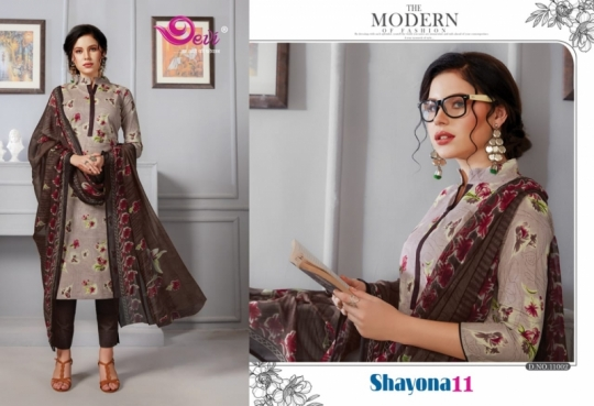 DEVI PRESENTS SHAYONA VOL 11 COTTON FABRIC DRESS MATERIAL AT WHOLESALE DEALER BEST RATE BY GOSIYA EXPORTS SURAT (10)