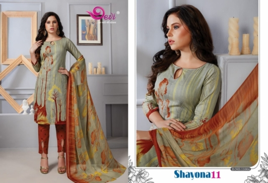 DEVI PRESENTS SHAYONA VOL 11 COTTON FABRIC DRESS MATERIAL AT WHOLESALE DEALER BEST RATE BY GOSIYA EXPORTS SURAT (11)