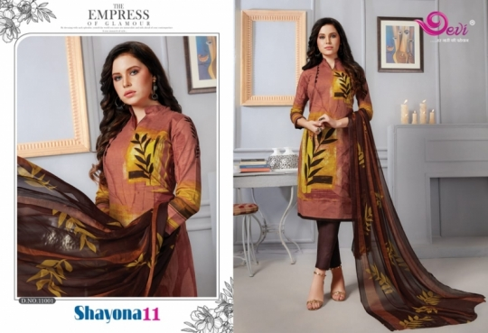 DEVI PRESENTS SHAYONA VOL 11 COTTON FABRIC DRESS MATERIAL AT WHOLESALE DEALER BEST RATE BY GOSIYA EXPORTS SURAT (12)