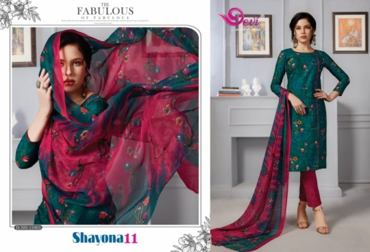 DEVI PRESENTS SHAYONA VOL 11 COTTON FABRIC DRESS MATERIAL AT WHOLESALE DEALER BEST RATE BY GOSIYA EXPORTS SURAT (14)
