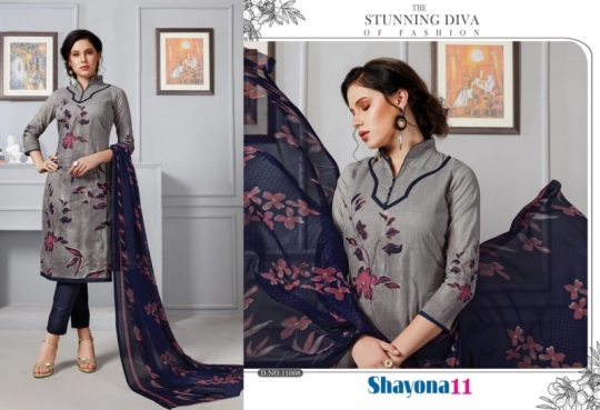 DEVI PRESENTS SHAYONA VOL 11 COTTON FABRIC DRESS MATERIAL AT WHOLESALE DEALER BEST RATE BY GOSIYA EXPORTS SURAT (2)
