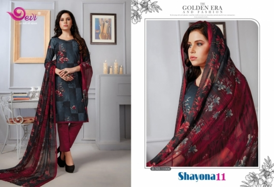 DEVI PRESENTS SHAYONA VOL 11 COTTON FABRIC DRESS MATERIAL AT WHOLESALE DEALER BEST RATE BY GOSIYA EXPORTS SURAT (5)