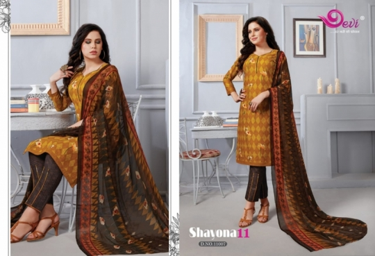 DEVI PRESENTS SHAYONA VOL 11 COTTON FABRIC DRESS MATERIAL AT WHOLESALE DEALER BEST RATE BY GOSIYA EXPORTS SURAT (6)