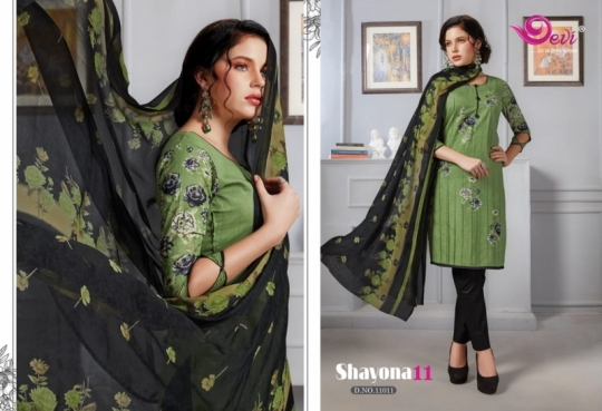 DEVI PRESENTS SHAYONA VOL 11 COTTON FABRIC DRESS MATERIAL AT WHOLESALE DEALER BEST RATE BY GOSIYA EXPORTS SURAT (7)