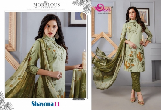 DEVI PRESENTS SHAYONA VOL 11 COTTON FABRIC DRESS MATERIAL AT WHOLESALE DEALER BEST RATE BY GOSIYA EXPORTS SURAT (8)