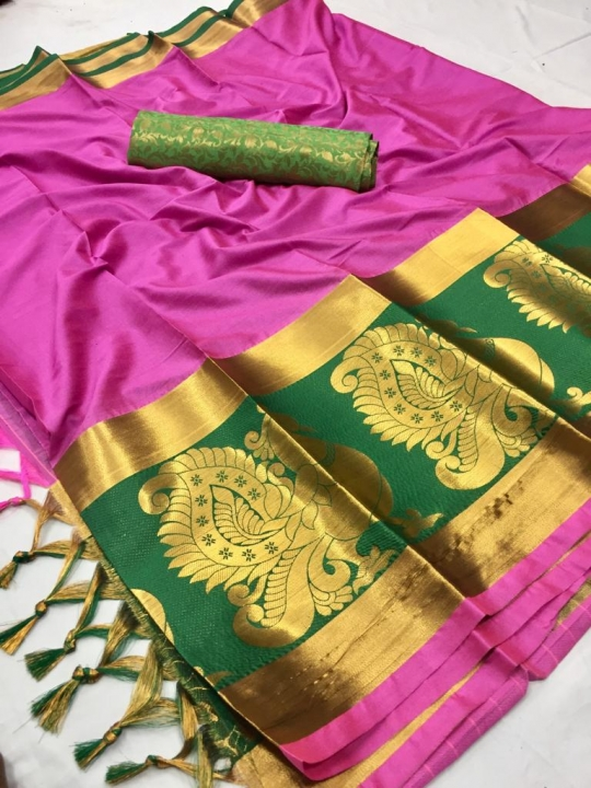 DHEL COTTON PURE SILK SAREE  WHOLESALE  GOSIYA EXPORTS SURAT  (2)