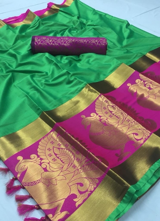 DHEL COTTON PURE SILK SAREE  WHOLESALE  GOSIYA EXPORTS SURAT  (5)