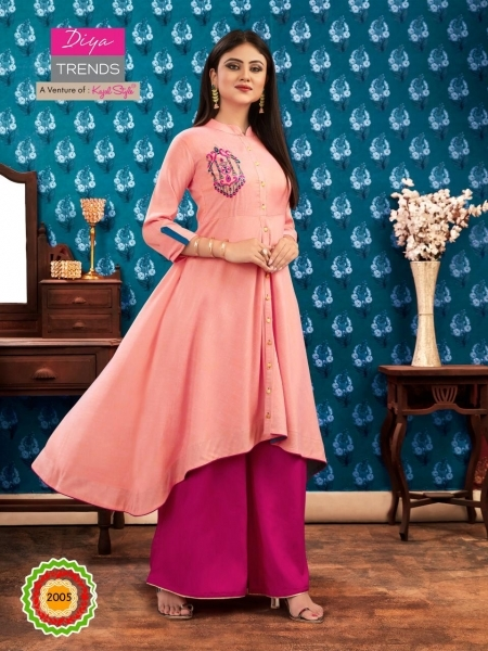 DIYA TRENDZ ICONIC CITY VOL 2 KAJAL STYLE LONG FLAIR KURTI WHOLESALE DEALER BEST RATE BY GOSIYA EXPORTS SURAT (7)