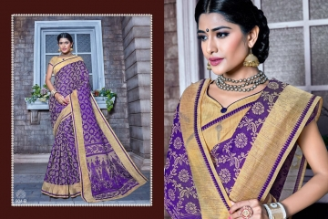 EARTH KASHMIRI STYLE BANARASI SAREES CATALOG COLLECTION WHOLESALER SUPPLIER BEST RATE BY GOSIYA EXPORTS SURAT (10)