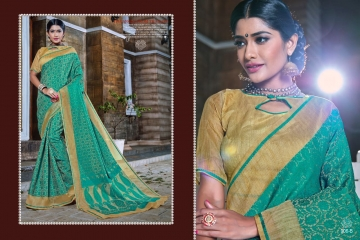 EARTH KASHMIRI STYLE BANARASI SAREES CATALOG COLLECTION WHOLESALER SUPPLIER BEST RATE BY GOSIYA EXPORTS SURAT (4)