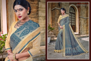 EARTH KASHMIRI STYLE BANARASI SAREES CATALOG COLLECTION WHOLESALER SUPPLIER BEST RATE BY GOSIYA EXPORTS SURAT (9)