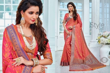 EARTH SAREES APSARA BANARSI PARTY WEAR SAREES COLLECTION WHOLESALE SUPPLIER BEST RATE BY GOSIYA EXPORTS SURAT (1)