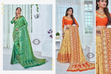 EARTH SAREES APSARA BANARSI PARTY WEAR SAREES COLLECTION WHOLESALE SUPPLIER BEST RATE BY GOSIYA EXPORTS SURAT (5)