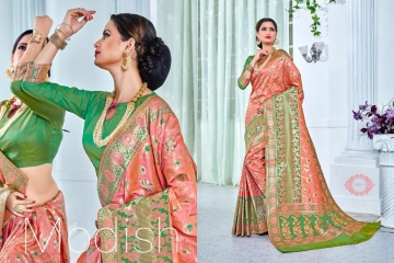 EARTH SAREES APSARA BANARSI PARTY WEAR SAREES COLLECTION WHOLESALE SUPPLIER BEST RATE BY GOSIYA EXPORTS SURAT (7)