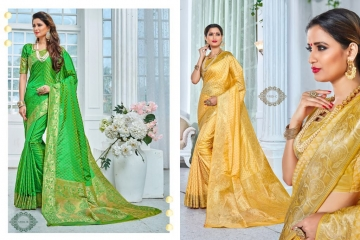 EARTH SAREES APSARA BANARSI PARTY WEAR SAREES COLLECTION WHOLESALE SUPPLIER BEST RATE BY GOSIYA EXPORTS SURAT (9)