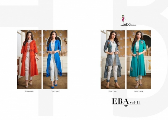 EBA LIFESTYLE EBA VOL 13 COTTON FABRIC WITH EMBROIDERY WORK  (8)