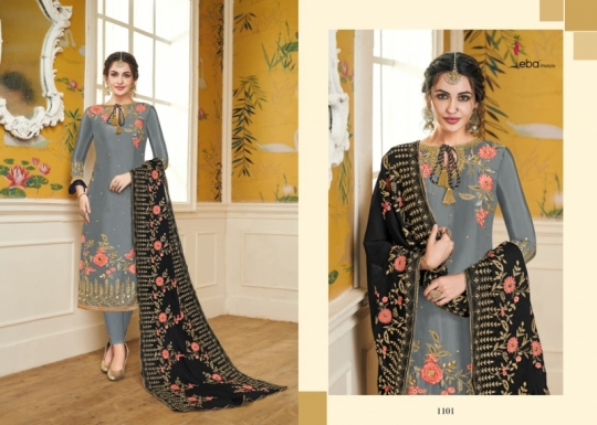 EBA LIFESTYLE LAUNCH HURMA VOL 18 VISCOSE FABRIC WITH EMBROIDERY WORK SALWAR SUIT WHOLESALE DEALER BEST RATE BY GOSIYA EXPROTS SU (49)