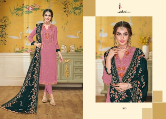 EBA LIFESTYLE LAUNCH HURMA VOL 18 VISCOSE FABRIC WITH EMBROIDERY WORK SALWAR SUIT WHOLESALE DEALER BEST RATE BY GOSIYA EXPROTS SU (51)