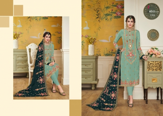EBA LIFESTYLE LAUNCH HURMA VOL 18 VISCOSE FABRIC WITH EMBROIDERY WORK SALWAR SUIT WHOLESALE DEALER BEST RATE BY GOSIYA EXPROTS SU (52)