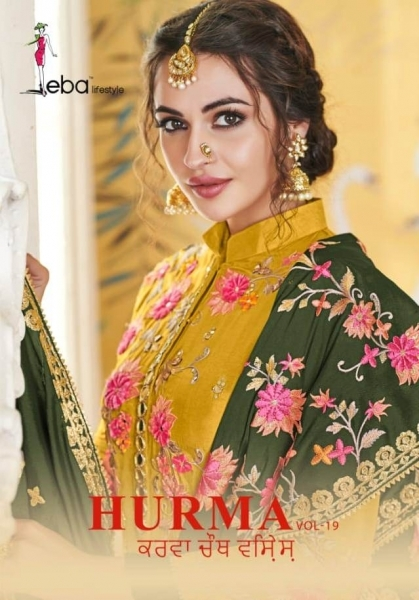 EBA LIFESTYLE LAUNCH HURMA VOL 18 VISCOSE FABRIC WITH EMBROIDERY WORK SALWAR SUIT WHOLESALE DEALER BEST RATE BY GOSIYA EXPROTS SU