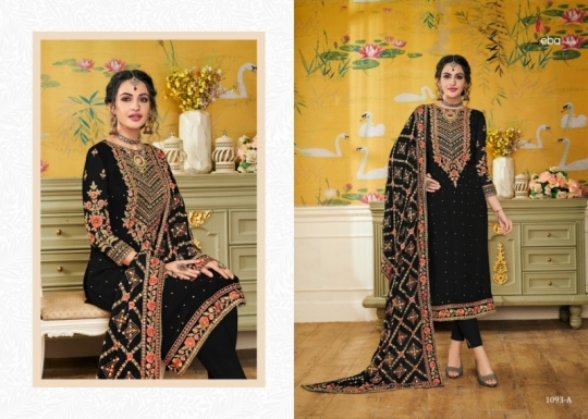EBA LIFESTYLE PRESENTS HURMA VOL 17 NX BLOUMING WITH EMBROIDERY WORK SALWAR SUIT WHOLESALE DEALER BEST RATE BY GOSIYA (514)