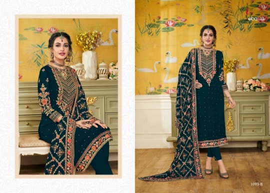 EBA LIFESTYLE PRESENTS HURMA VOL 17 NX BLOUMING WITH EMBROIDERY WORK SALWAR SUIT WHOLESALE DEALER BEST RATE BY GOSIYA (515)