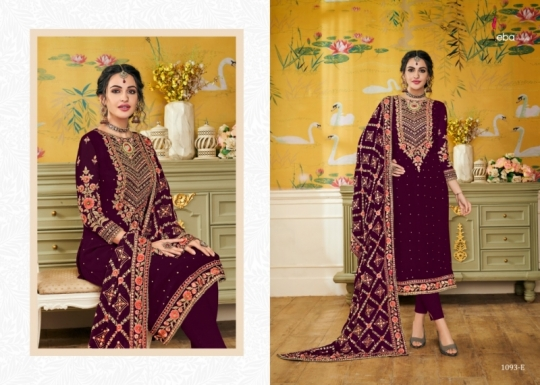 EBA LIFESTYLE PRESENTS HURMA VOL 17 NX BLOUMING WITH EMBROIDERY WORK SALWAR SUIT WHOLESALE DEALER BEST RATE BY GOSIYA (516)