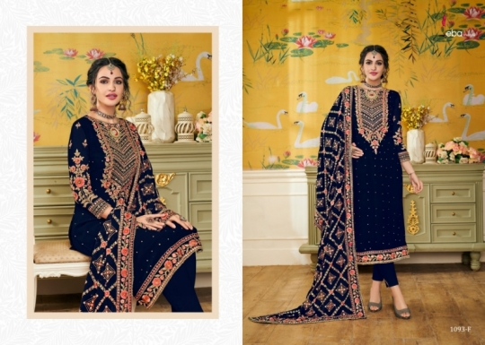 EBA LIFESTYLE PRESENTS HURMA VOL 17 NX BLOUMING WITH EMBROIDERY WORK SALWAR SUIT WHOLESALE DEALER BEST RATE BY GOSIYA (517)