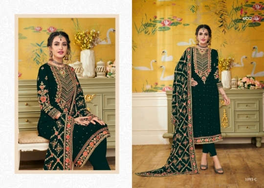 EBA LIFESTYLE PRESENTS HURMA VOL 17 NX BLOUMING WITH EMBROIDERY WORK SALWAR SUIT WHOLESALE DEALER BEST RATE BY GOSIYA (518)