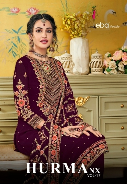 EBA LIFESTYLE PRESENTS HURMA VOL 17 NX BLOUMING WITH EMBROIDERY WORK SALWAR SUIT WHOLESALE DEALER BEST RATE BY GOSIYA E (1)
