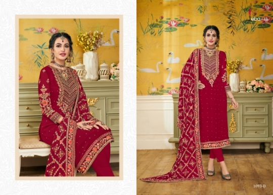 EBA LIFESTYLE PRESENTS HURMA VOL 17 NX BLOUMING WITH EMBROIDERY WORK SALWAR SUIT WHOLESALE DEALER BEST RATE BY GOSIYA