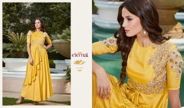 ETERNAL AASHI VOL 3 PREMIUM SILKS SATIN WITH EMBROIDERED GOWN COLLECTION WHOLESALE BEST RATE BY GOSIYA EXPORTS SURAT (4)