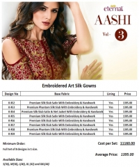 ETERNAL AASHI VOL 3 PREMIUM SILKS SATIN WITH EMBROIDERED GOWN COLLECTION WHOLESALE BEST RATE BY GOSIYA EXPORTS SURAT (9)