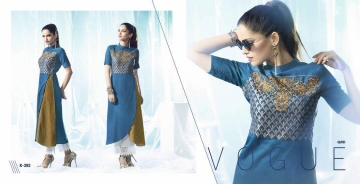 ETERNAL ARTERY DESGINER COTTON LONG KURTI WHOLESALE RATE AT GOSIYA EXPORTS SURAT (4)